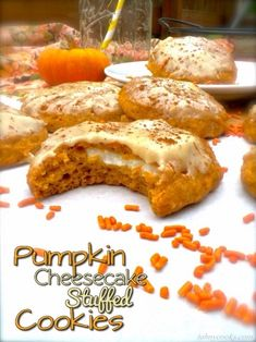 Sound So Yummy ! Pumpkin Cheesecake Stuffed Cookies !