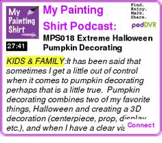 #KIDS #PODCAST  My Painting Shirt Podcast: Party Planning | Crafts | DIY    MPS018 ? Extreme Halloween Pumpkin Decorating    LISTEN...  http://podDVR.COM/?c=019df904-3ce0-5347-c3b9-8f1adab460e6