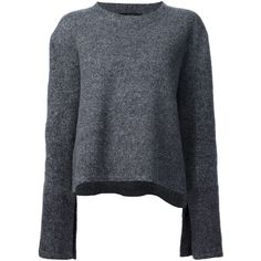 Ellery flared sleeves jumper (£915) ❤ liked on Polyvore featuring tops, sweaters, grey, merino wool sweater, grey top, jumper top, flared sleeve top and e l l e r y