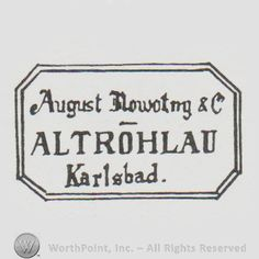 """'Mark with """"august nowotny altrohlau karlsbad"""" in"""