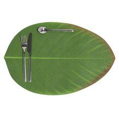 Tischset grünes Blatt 31 x 47 cm BANANIER
