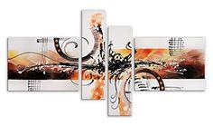 Arte dal Mondo AY044QX1 Abstrato Pintura compuesta realizada a mano montadas sobre bastidor grueso #cuadros #abstratos