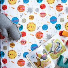 Deep Space Crib Sheet | The Land of Nod