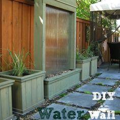 DIY Patio Water Wall