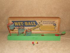Net Ball Tin Plate Game By Ajax Co Ilford Ltd Vintage Boxed Collectable Game