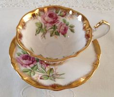 Queen Anne China Tea cup and Saucer Teacup Duo