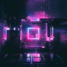 E Commerce, Cyberpunk City, Neon Purple, Pink, Purple Aesthetic, Future City, Retro Futurism, Neon Lighting, Cinema 4d