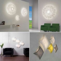 Wall mounted design lighting features