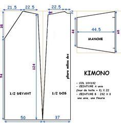 patron kimono japonais homme - Recherche Google