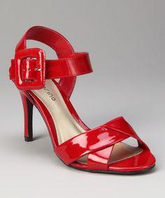 Look at this #zulilyfind! ann marino ann marino Dark Red Hula Sandal by ann marino #zulilyfinds