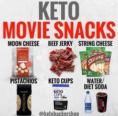 KETO MOVIE SNACKS Headed to the movies but want some snacks? Here are 6 great keto snack options! Granted not all of these snacks you can get at by ketohackershop