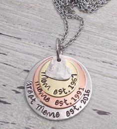 Excited to share the latest addition to my #etsy shop: Personalized Grandma Or Mom Milestone Necklace, Mother's Day Gift, Mom Jewelry, Grandma Jewelry, Great Grandma Necklace, Established Jewelry #necklace #jewelry https://etsy.me/2EGysId