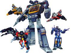 Transformers Masterpiece Soundwave Group Shot