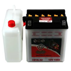YB14L-A2 Motorcycle Battery for SUZUKI GS750, Katana 750CC 77-'83 by Chrome Battery. $46.00. Motorcycles also use the oldest and most reliable type of rechargeable battery, the Lead Acid battery. Chrome Battery offers a large inventory of motorcycle batteries to replace your existing battery. AGM Sealed Lead Acid batteries are considered the highest performing battery available on the market today. Each Chrome Battery motorcycle battery is constructed with lead calc...
