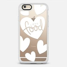 Love Food - New Standard iPhone 6/6S #Protective Case in Clear and Clear by tomodachi #phonecase   @casetify