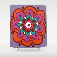 Design your everyday with shower-curtains you'll love to show off in your bathroom. Choose unique patterns and designs from independent artists. Shower Curtains, Beach Mat, Pattern Design, Outdoor Blanket, Color, Colour, Colors