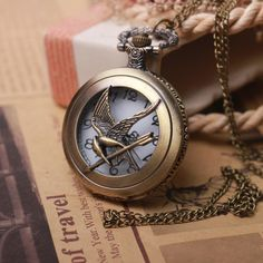 2014 Antique Punk Pocket Watch The Hunger Games Harry Potter Dive Watch Male Clock Lord Of The Rings Pocket Watch w07