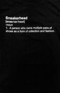 b2401a2dea5 I used to think teen girls cared more about what they wore! Fully Laced –  The Sneakerhead Definition Tee (Blk)