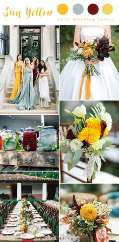 sun yellow, mint green with pops of dark red summer and fall wedding colors . sun yellow, mint green with pops of dark red summer and fall wedding colors Yellow Wedding Colors, Rustic Wedding Colors, Summer Wedding Colors, Wedding Color Schemes, Yellow Weddings, Colour Schemes, Colour Palettes, August Wedding Colors, Pink Summer