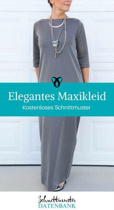 Elegantes Maxikleid kostenloses Nähanleitung Kleid nähen Anleitung Schnittmuster Idee für Frauen Nähen