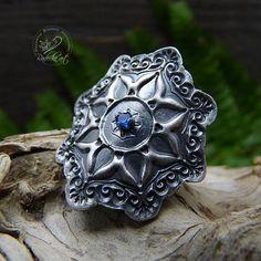 Mandala Ring Gypsy Ring Bohemian Ring Sterling Silver Boho