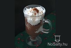 Poharas csokis gesztenyekrém Creme Brulee, Mousse, Food And Drink, Ice Cream, Pudding, Beer, Cookies, Drinks, Tableware