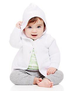 Hoodie Pocket Cardigan In Organic Cotton | Baby Sweaters & Jackets  #organic #babyclothes #hannaandersson