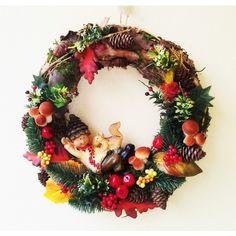 jesenný veniec dubáčik 30 cm Wreaths, Halloween, Fall, Home Decor, Autumn, Decoration Home, Door Wreaths, Fall Season, Room Decor