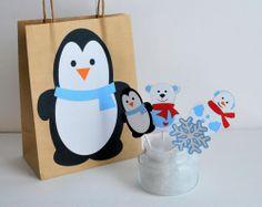 Penguin (Olaf?) Gift Bag idea. X