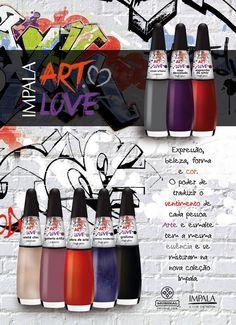 colecao ART LOVE Nova coleção de esmaltes Impala Art Love