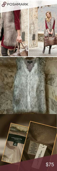 NWOT Chic Ann Taylor FurJackets & Blazers Size XS. NWOT Chic Ann Taylor Fur Jackets & Blazers - Ann taylor fur vest with pockets on each side.Sixe XS. Ann Taylor Jackets & Coats Vests
