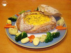 Fondue de formatge amb verduretes // Fondue de queso con verduritas.