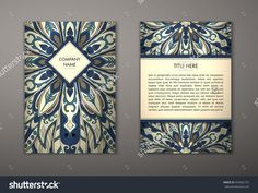 Flyer With Floral Mandala Pattern And Ornaments. Vector Flyer Oriental Design Layout Template, Size. Islam, Arabic, Indian, Ottoman Motifs. Front Page And Back Page. Easy To Use And Edit. - 403685755 : Shutterstock