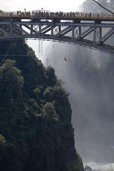 Bungee jumping over Victoria Falls. | 14 Next-Level Experiences Every Daredevil Should Try Once