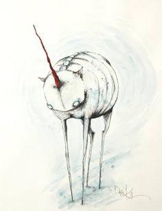 "Saatchi Art Artist Daria Kudla; Drawing, ""The Unicorn"" #art"
