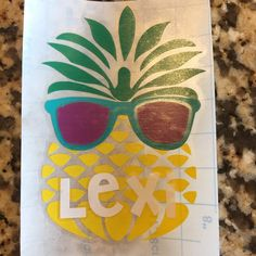 Pineapple decal for car or yeti