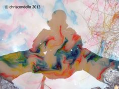 """""""Self Portrait"""" – © chriscondello 2013 – Conceptual Composition – Hamnett Way – Wilkinsburg, PA – Alley puddle… Mud… Food Coloring… And my reflection…"""