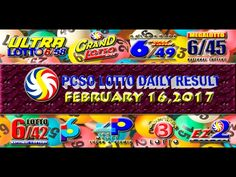 PCSO LOTTO RESULTS FEBRUARY 16, 2017 (EZ2, SWERTRES, 6D, 6/42 & 6/49) Lotto Results, Positive Affirmations, Pop Tarts, Work On Yourself, Snack Recipes, Youtube, February 8, Snack Mix Recipes, Appetizer Recipes