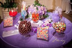 "Candy Bar with ""Brandy"" Glasses Candy Bar Wedding, Wedding Favors, Wedding Ideas, Tea Favors, Candy Wrappers, Peacock Wedding, Candy Table, Martha Stewart Weddings, Birthday Party Favors"