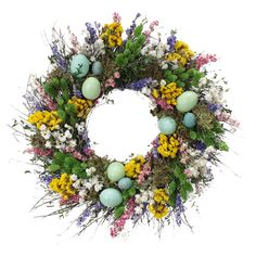 Preserved Wild Robin´s Egg Wreath at Joss & Main Spring Projects, Spring Crafts, Diy Spring Wreath, Garden Birthday, Easter Crafts, Easter Ideas, Faux Flowers, Holiday Wreaths, Flower Arrangements