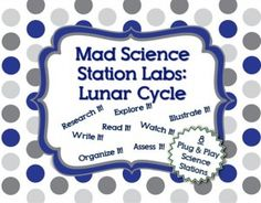 Mad Science Station Labs – Lunar Cycle and Moon Phases - Mad Science Lessons