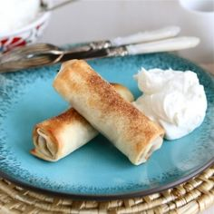Baked Apple Pie Egg Rolls - An easy, no-fuss apple pie treat.