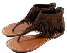 Chaussures plates de tongs femmes Gladiator Flats sandales franges plume Summer Beach