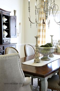 Savvy Southern Style : Early Summer Dining Room with New French Ironstone