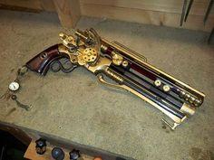 steampunktendencies:  Steampunk Officer Pistol by Dave Crook                                                                                                                                                                                 Plus