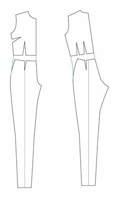 petit main sauvage: The great jumpsuit (and playsuit) tutorial. How to adapt patterns to make a jumpsuit - including how much to add to the torso. Fashion Sewing, Diy Fashion, Ideias Fashion, Origami Fashion, Fashion Details, Gothic Fashion, Sewing Pants, Sewing Clothes, Jumpsuit Pattern