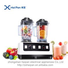 Double heads design 2100w multifunction smoothie maker fresh vegetable fruit juice make ice crush,it also can blend meat.#www.chinablender.com