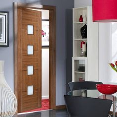 Front door furniture and internal door furniture for UK doors. Large range of brass, black, antique, chrome, polished door furniture. Walnut Doors, Oak Doors, Panel Doors, Contemporary Doors, Contemporary Interior Design, Interior Design Tips, Grey Interior Doors, Interior Window Shutters, Furniture Handles
