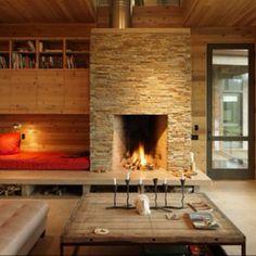 Fireplace seat