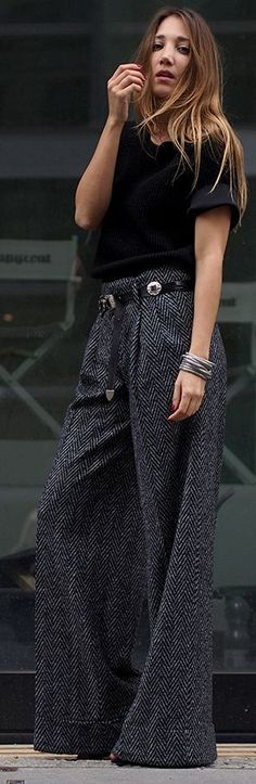 Hello, Shopping Dark Gray Structured Wide Leg Pants Fall Inspo